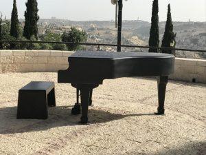 Piano on a balcony