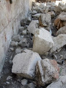Large Fallen Stones near the Western Wall